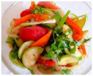 Салат из сырых кабачков по корейски