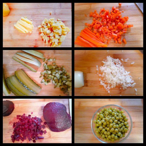 Винегрет овощной с горошком рецепт с фото пошагово