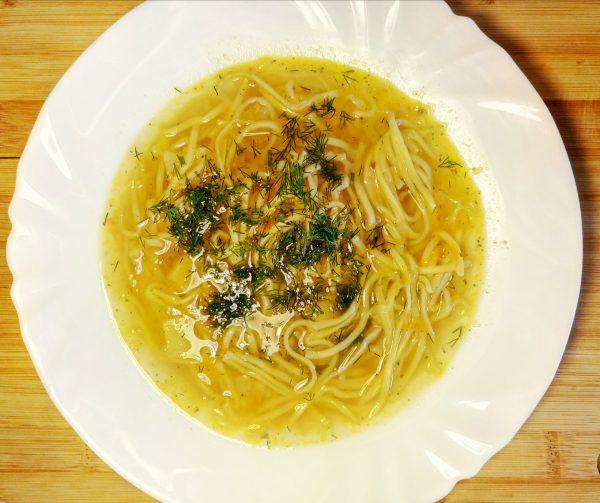 Куриный суп с яичной лапшой рецепт