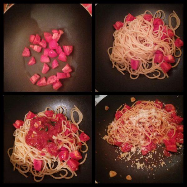 паста помидорини с соусом наполи