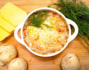 Жульен с курицей и грибами рецепт приготовления со сливками сметаной