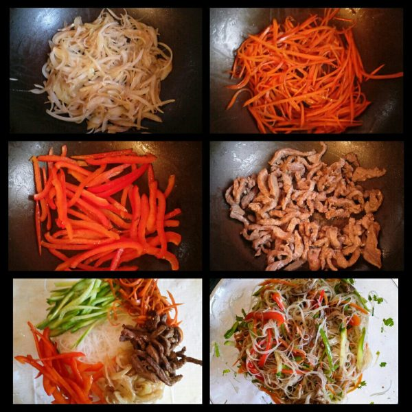 Салат фунчоза (фунчёза) рецепт приготовления пошагово с фото