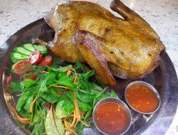 Фаршированная утка рисом и сухофруктами рецепт