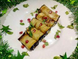 Рулетики из баклажан рецепт с фото