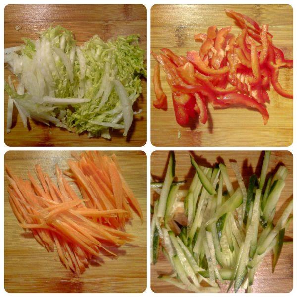 Тёплый салат с овощами и курицей рецепт с фото