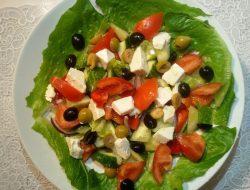 Греческий салат рецепт с фото пошагово