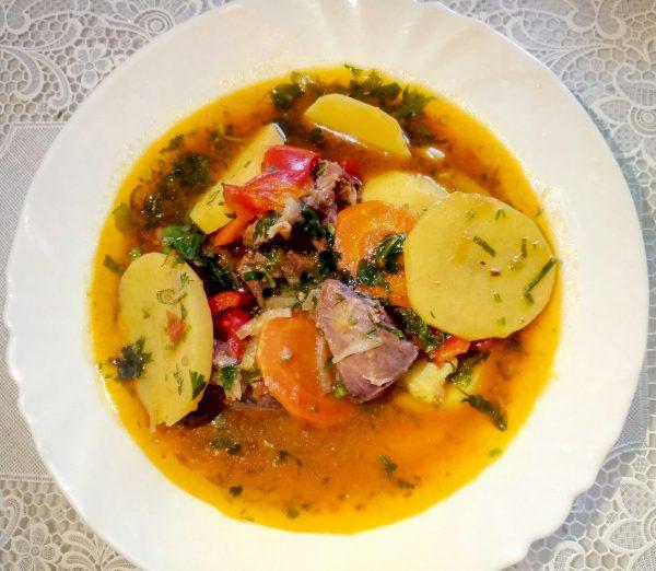 Жаркое(жаркоп) с бараниной в казане по узбекски рецепт