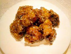 Жаренная курица в масляно медовом соусе рецепт