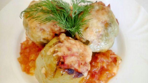 Перец фаршированный курицей и овощами в духовке рецепт
