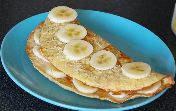 Овсяноблин с бананом рецепт ПП