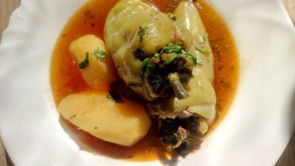 Суп с фаршированными перцами (Bulg'ori sho'rva) рецепт