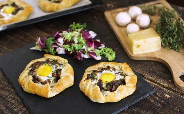 Галет с грибами и яйцом рецепт с фото
