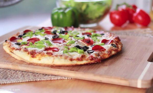 Быстрый и лёгкий рецепт домашней пиццы