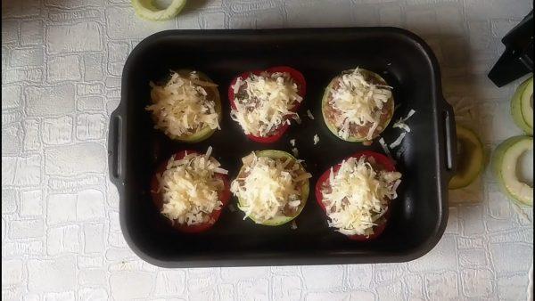 Фаршированные овощные кольца рецепт с фото и видео