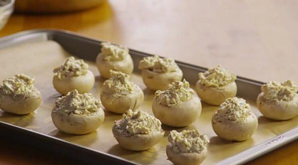 Фаршированные грибы шампиньоны рецепт с фото