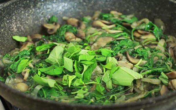 фриттата со шпинатом и грибами рецепт с фото