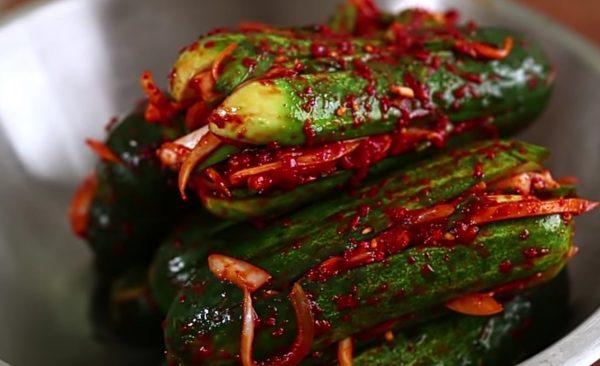 Кимчи из огурцов пошаговый рецепт с фото