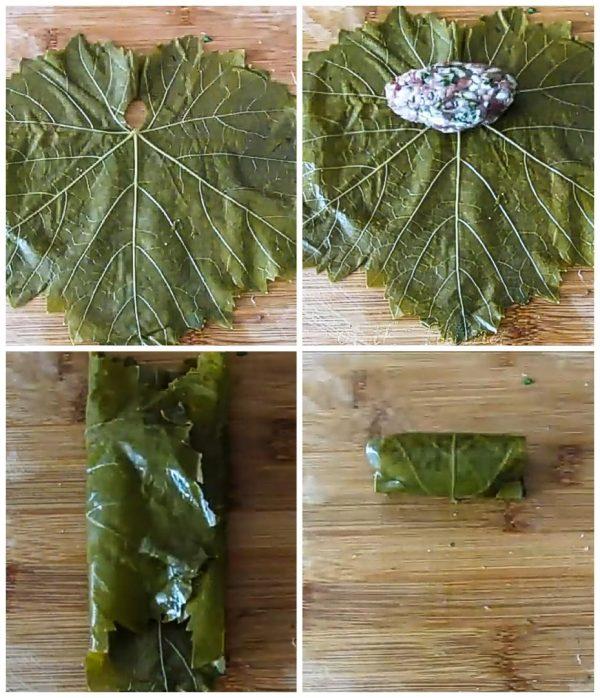 Долма в виноградных листьях рецепт с фото