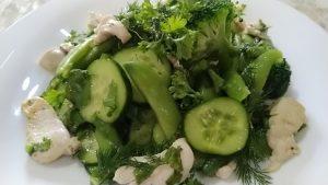 Летний зелёный салат рецепт с фото и видео