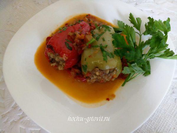 Фаршированный перец рецепт с фото пошагово