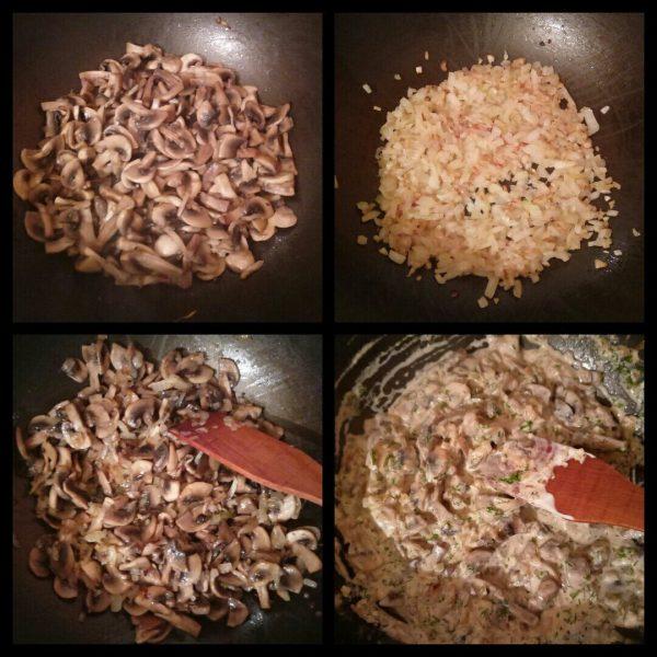 Блинчики с грибами в сметано чесночном соусе рецепт с фото