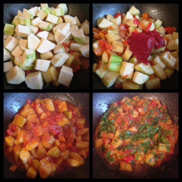 Овощное рагу из кабачков и картофеля