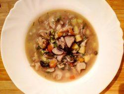 Грибной суп из шампиньонов и вешенок рецепт