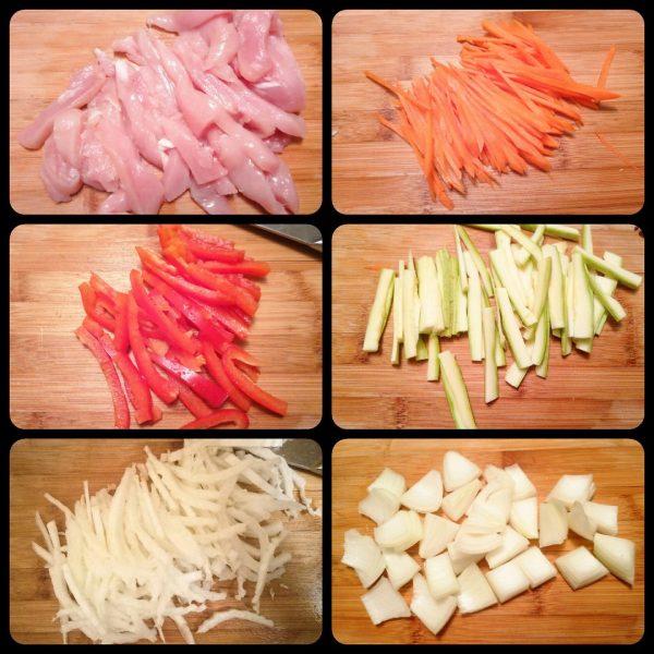 Лапша удон с курицей и овощами в воке рецепт с фото пошагово