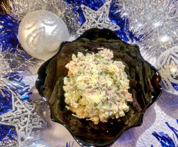 Оливье с грибами рецепт с фото пошагово