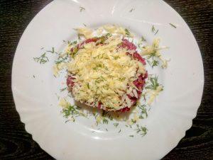 Салат со свеклой и мясом рецепт