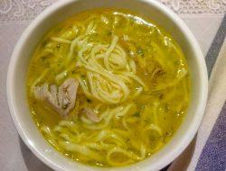 куриный суп с домашней яичной лапшой рецепт с фото