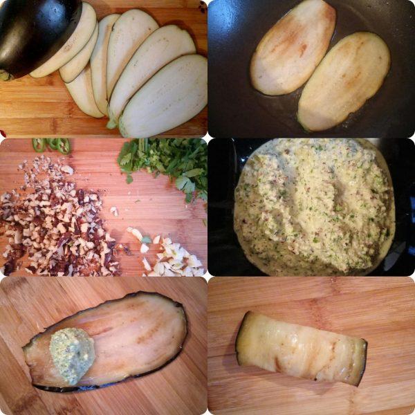 Рулетики из баклажанов рецепт с фото