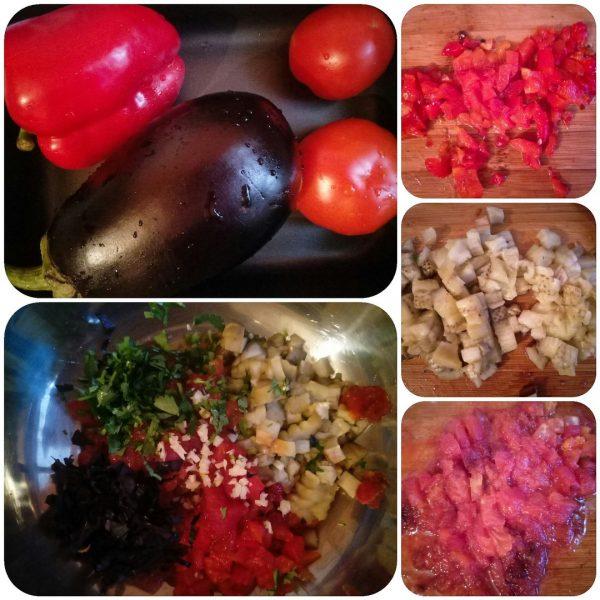 Салат из запеченных овощей в духовке рецепт