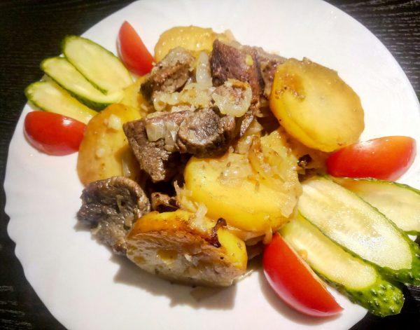 Жареный картофель с мясом рецепт приготовления