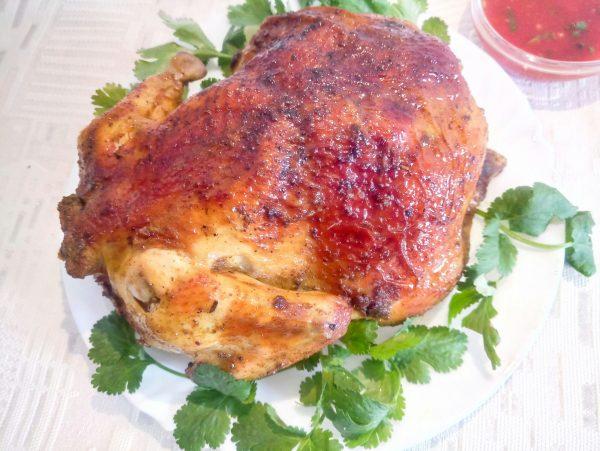 Сочная курица со специями в рукаве