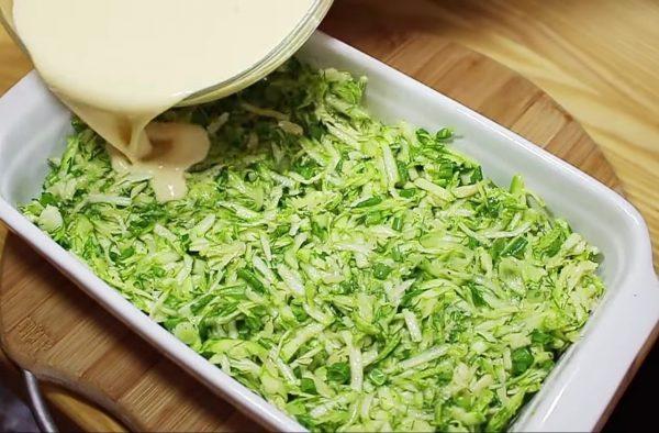 запеканка из молодых кабачков с сыром рецепт