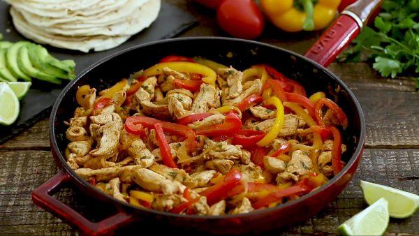 ахитас с курицей на сковороде рецепт