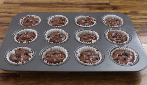 Шоколадные маффины нутелла легкий рецепт