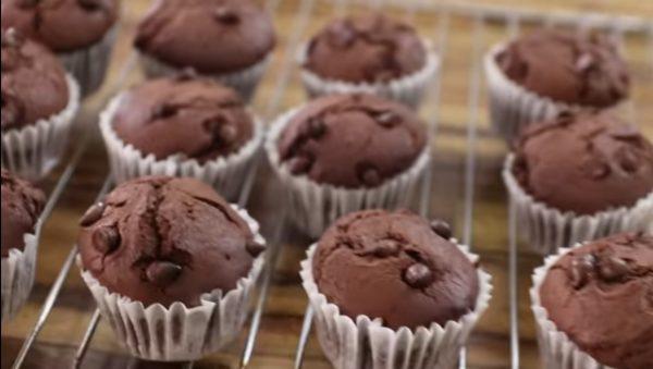 Шоколадные маффины нутелла легкий рецепт с фото