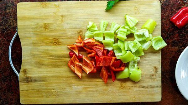 Болгарский перец красный и зелёный для лагмана